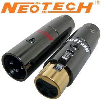 Neotech Rhodium plated XLR plugs